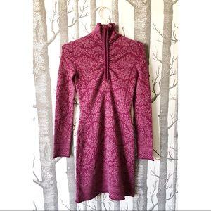 //ATHLETA// Zip Up Sweater Dress